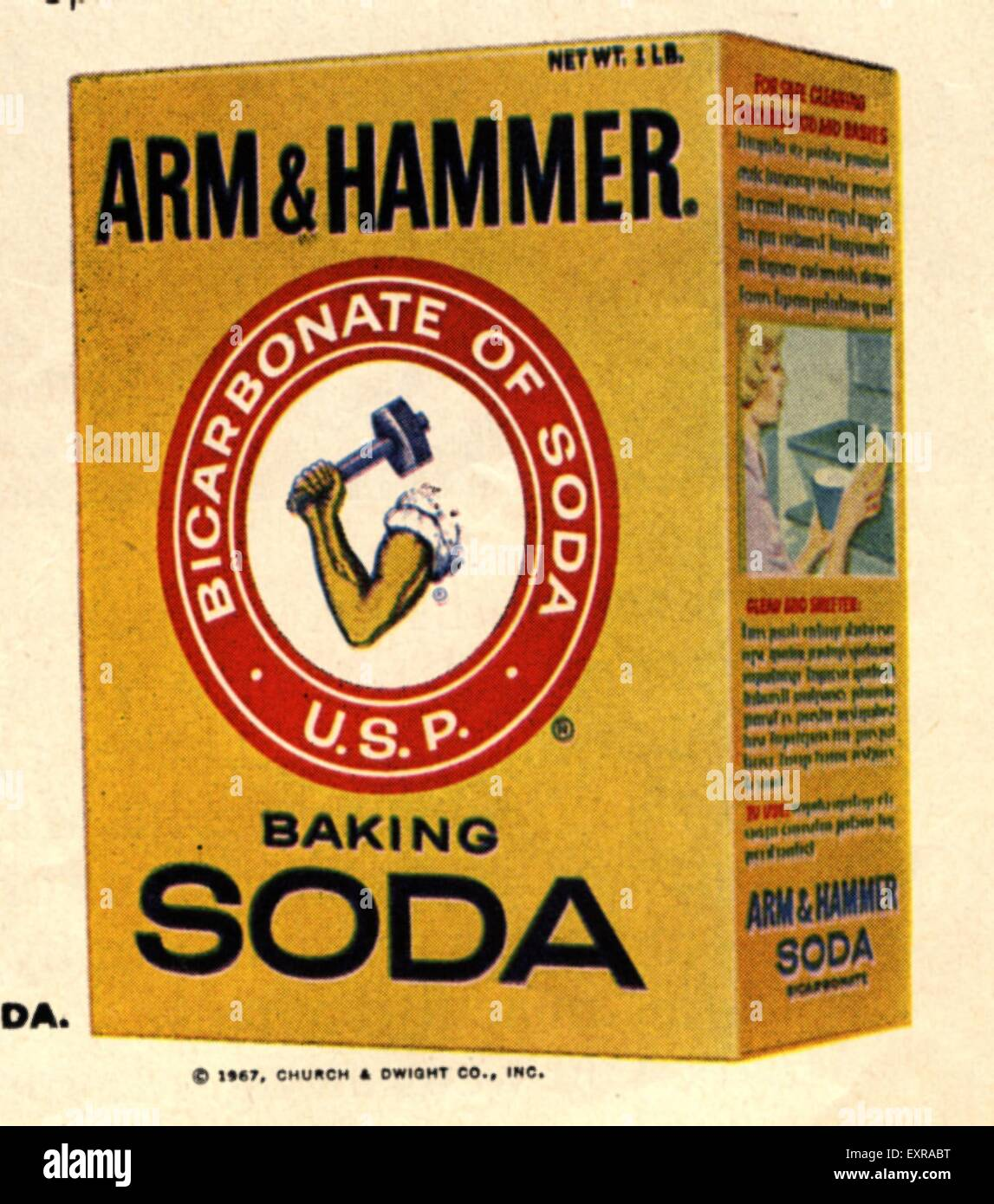 1960s USA Arm and Hammer Magazine Advert (detail) Stock Photo