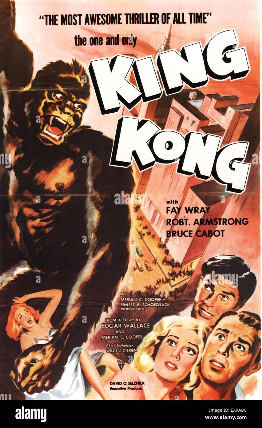 1930s USA King Kong Film Poster - Stock Image
