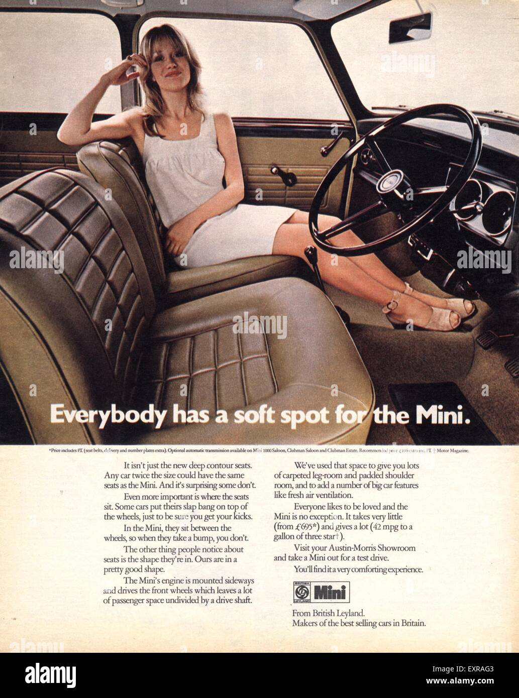 1970s UK Mini Magazine Advert - Stock Image