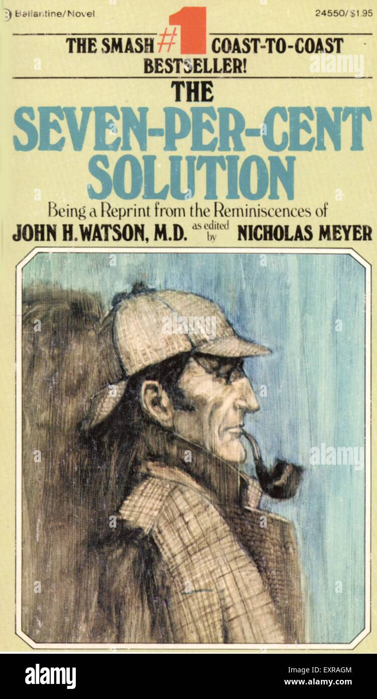 1950s UK Seven per cent Solution Magazine Cover - Stock Image