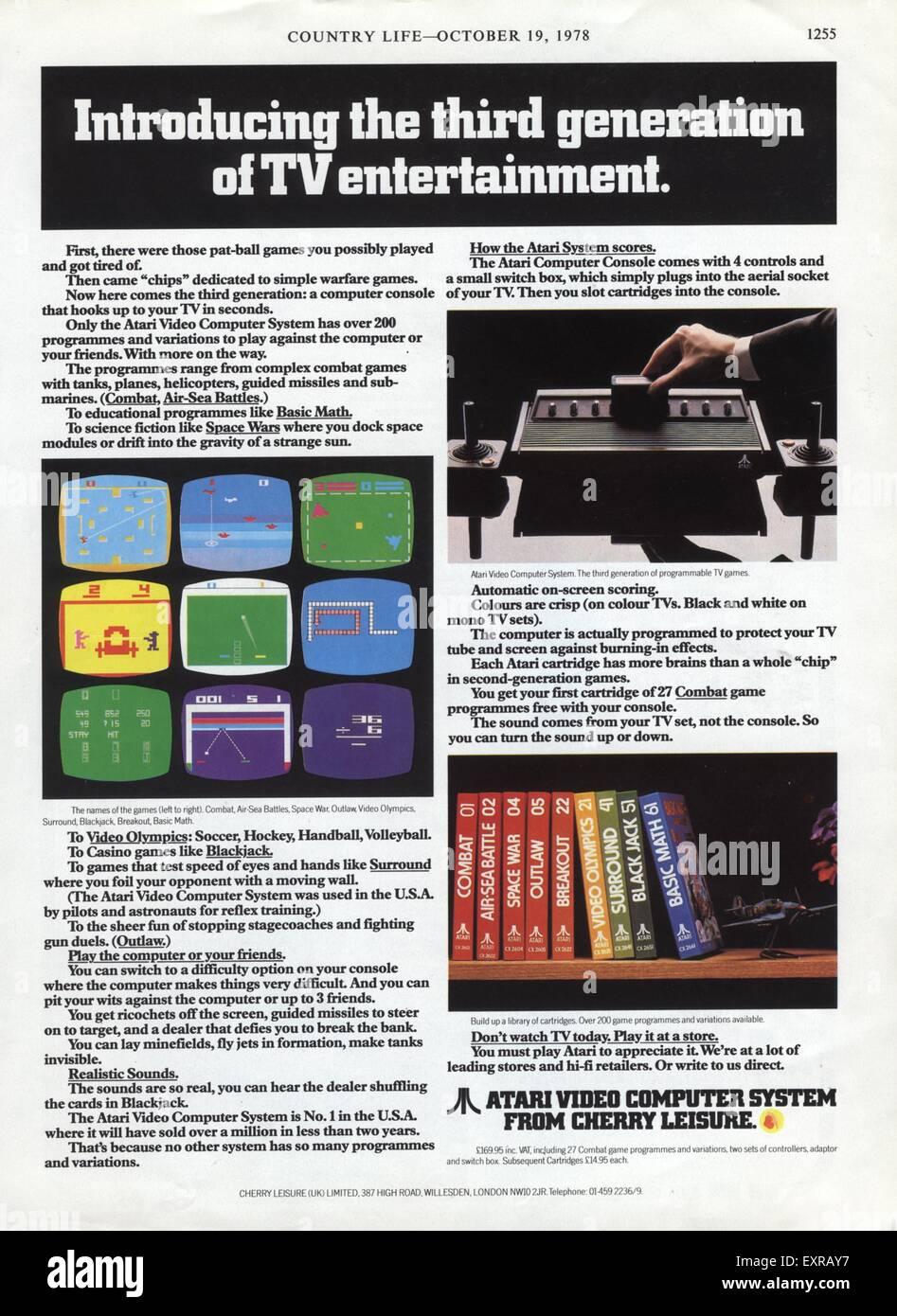 1970s UK Atari Magazine Advert Stock Photo: 85336027 - Alamy