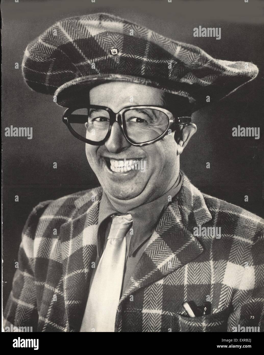 1950s USA Phil Silvers Magazine Plate - Stock Image