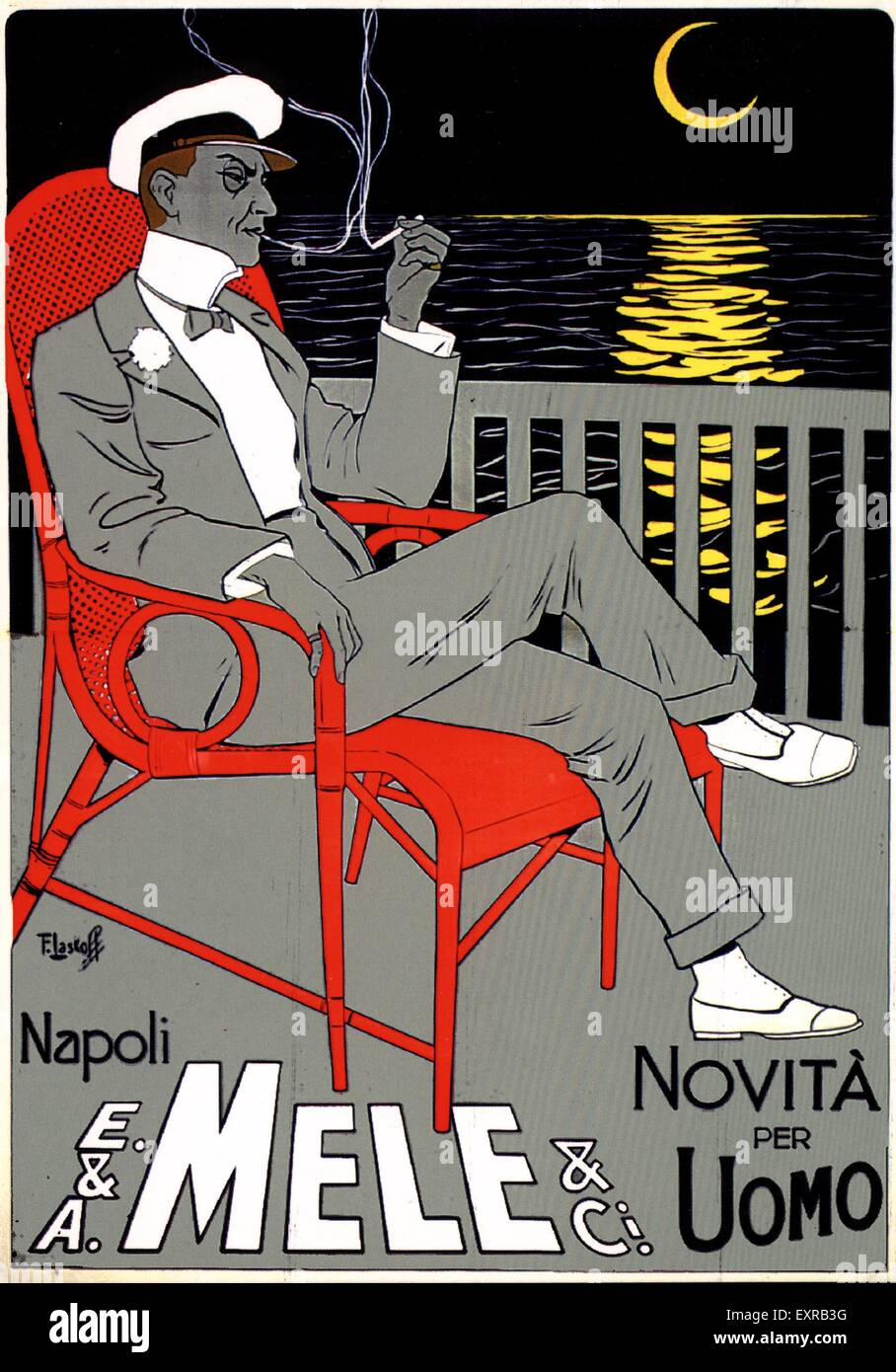 1910s Italy Mele Poster - Stock Image