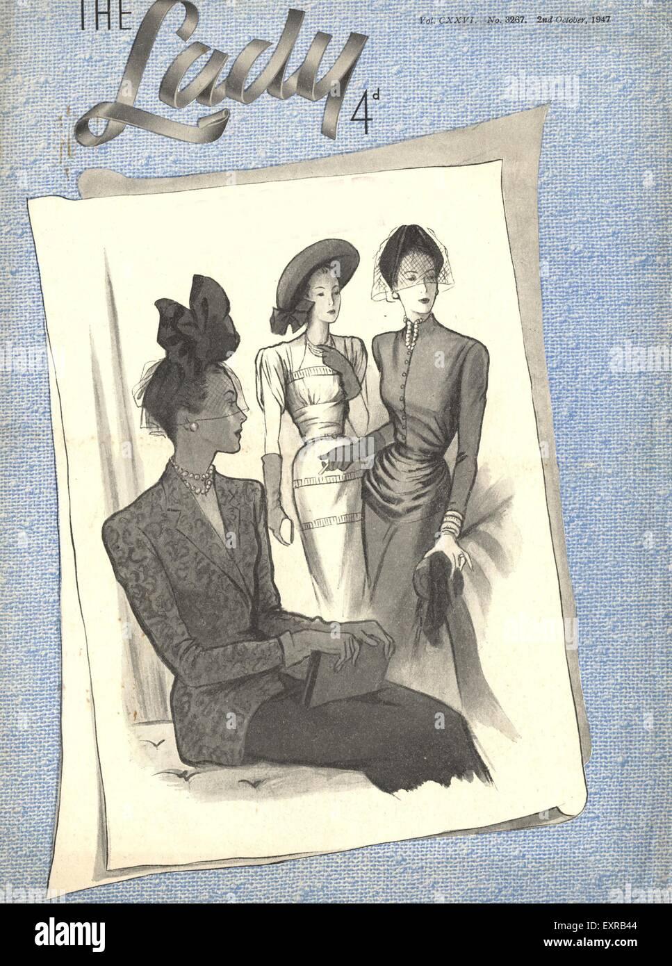 1940s UK The Lady Magazine Cover - Stock Image