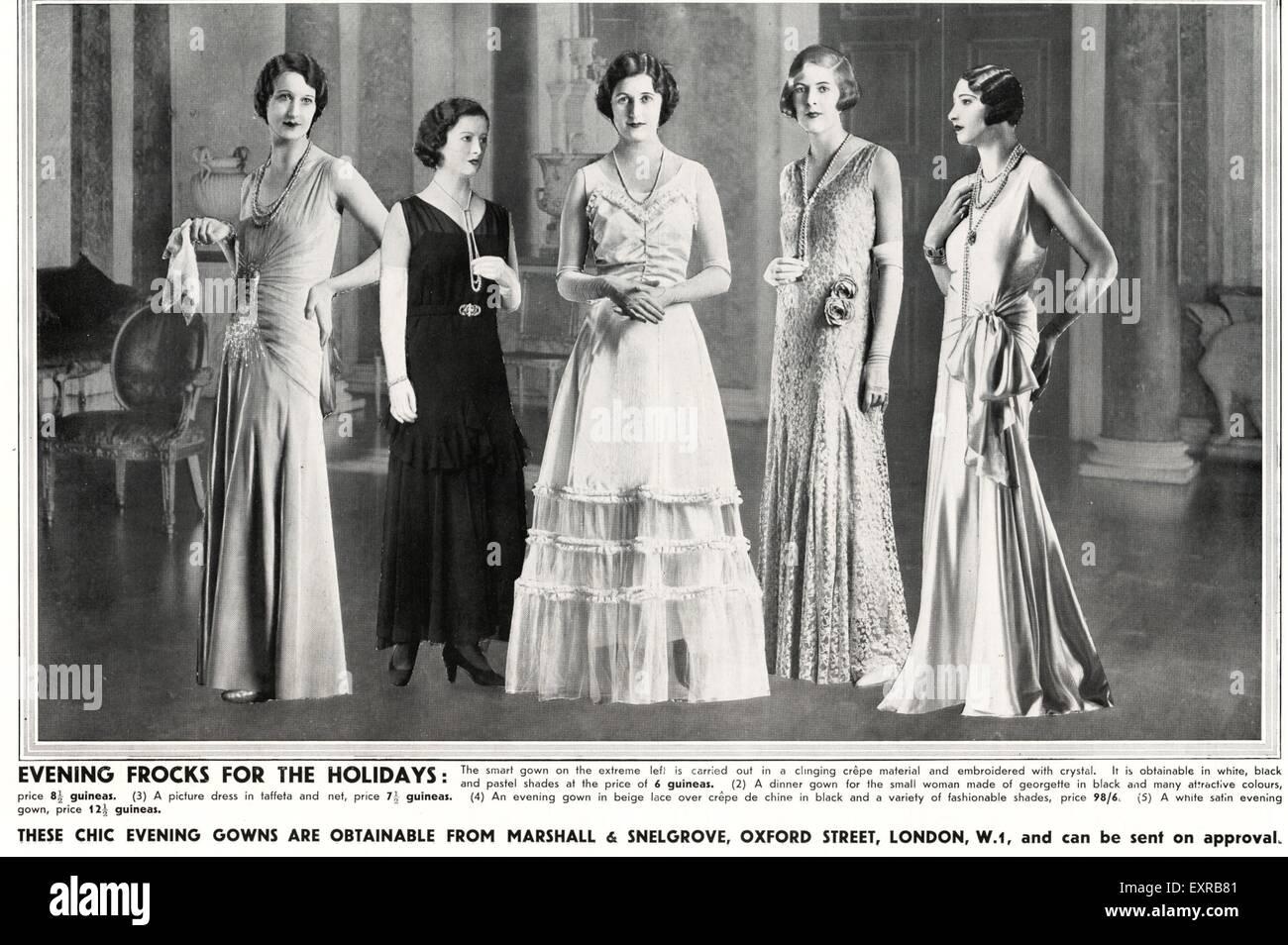 1930s UK Womens Fashion Magazine Advert Stock Photo