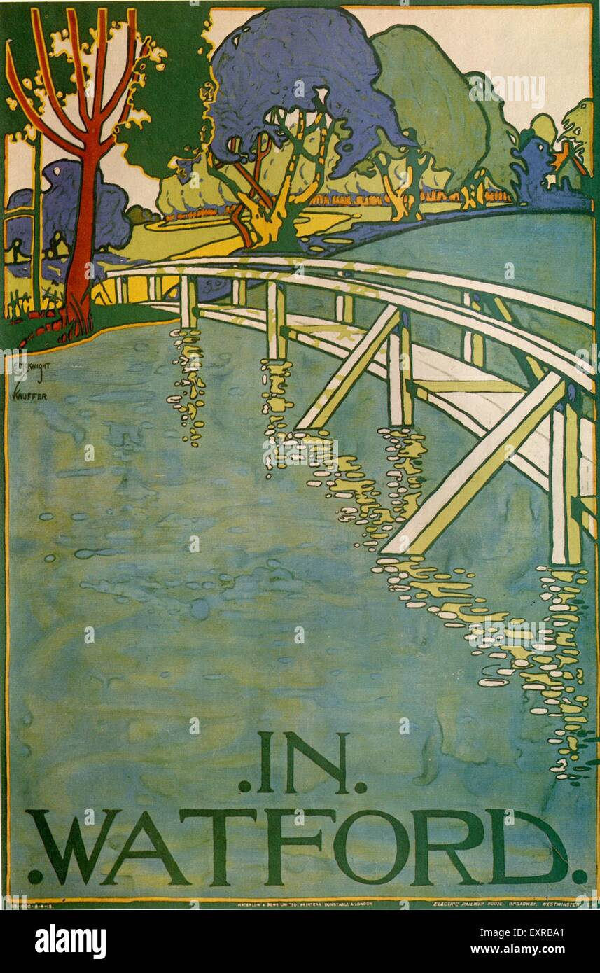 1920s UK London Transport Poster - Stock Image