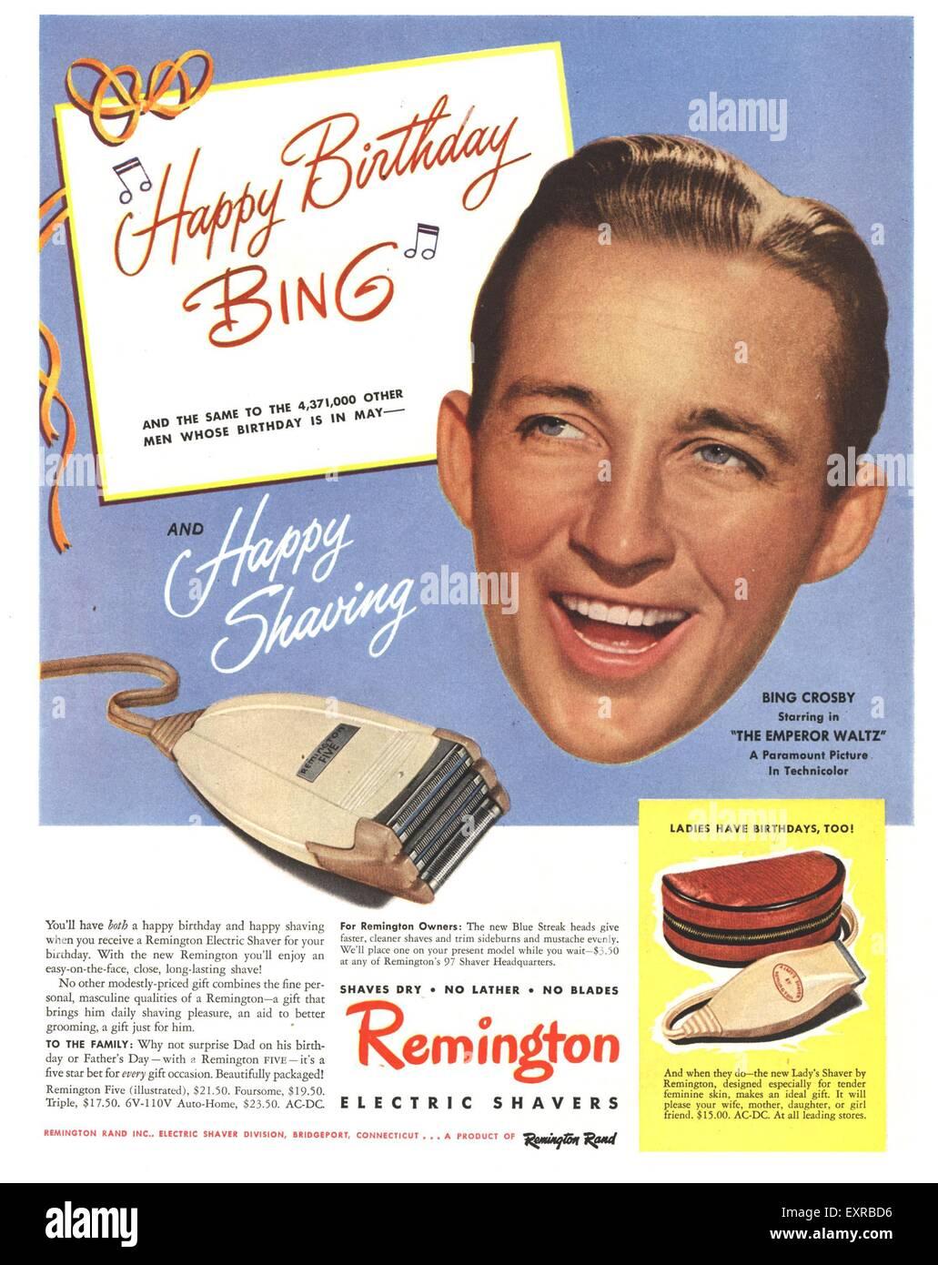 1950s USA Remington Magazine Advert Stock Photo: 85336418 - Alamy