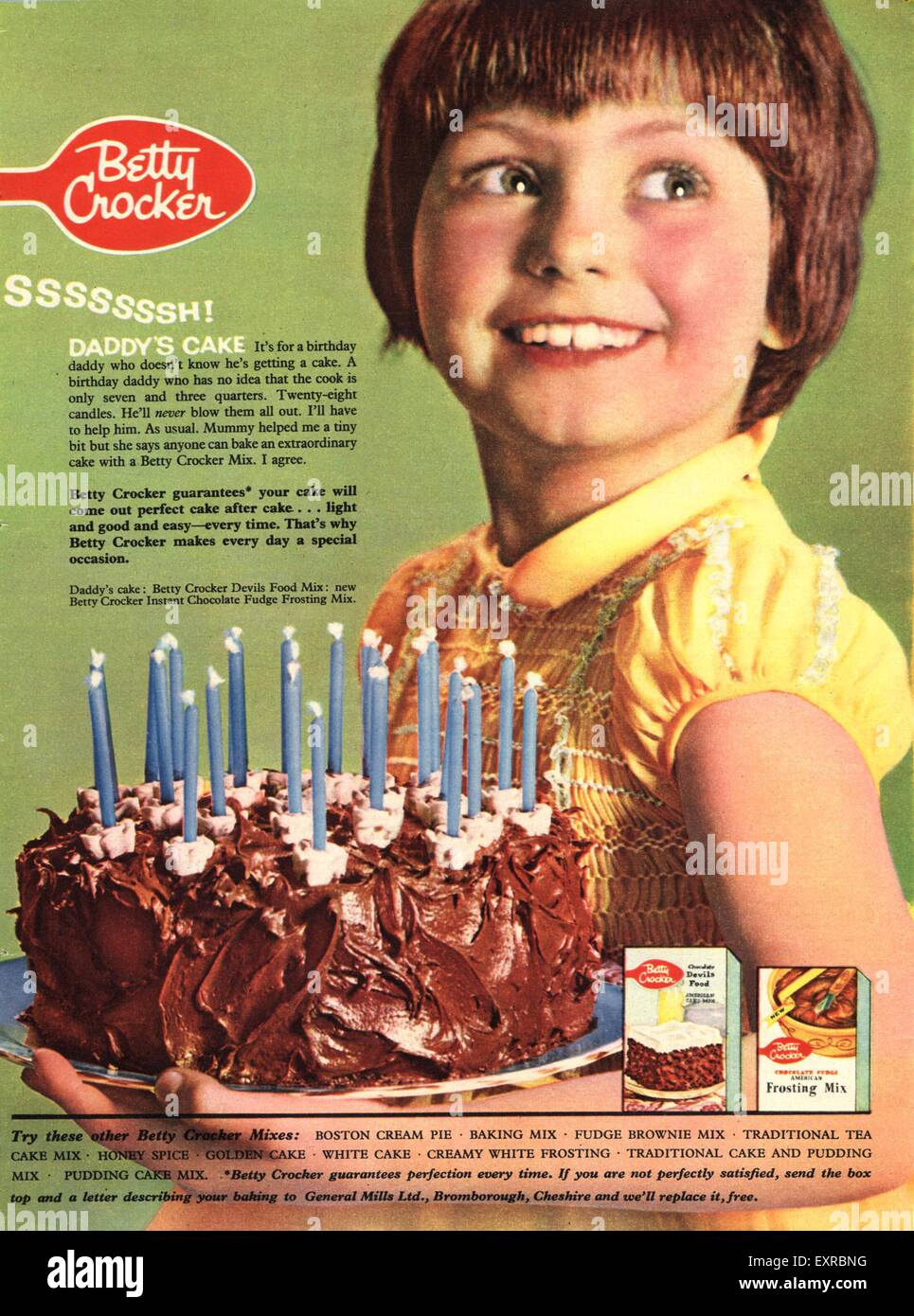 Peachy 1950S Usa Betty Crocker Magazine Advert Stock Photo 85336652 Alamy Funny Birthday Cards Online Barepcheapnameinfo