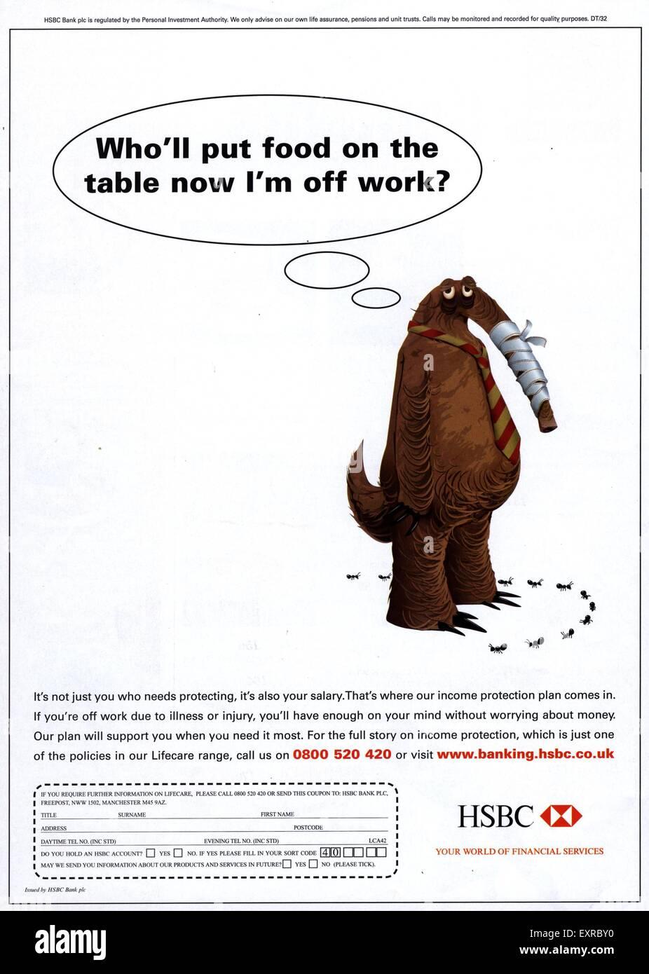 2000s Uk Hsbc Magazine Advert Stock Photos & 2000s Uk Hsbc Magazine