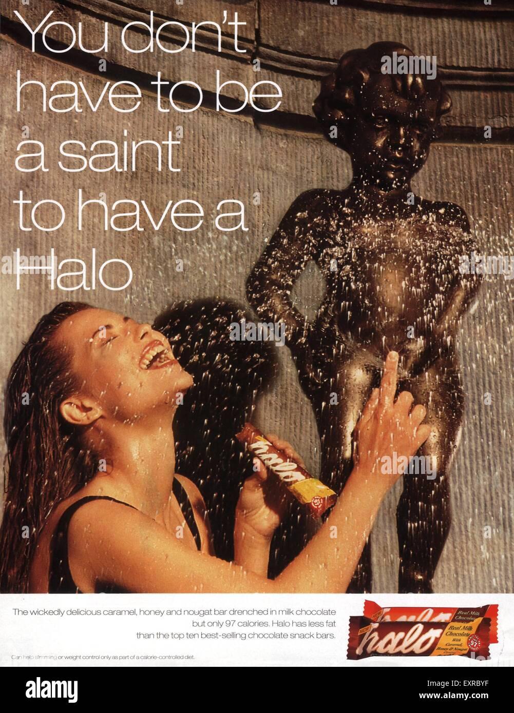 1990s UK Halo Magazine Advert - Stock Image