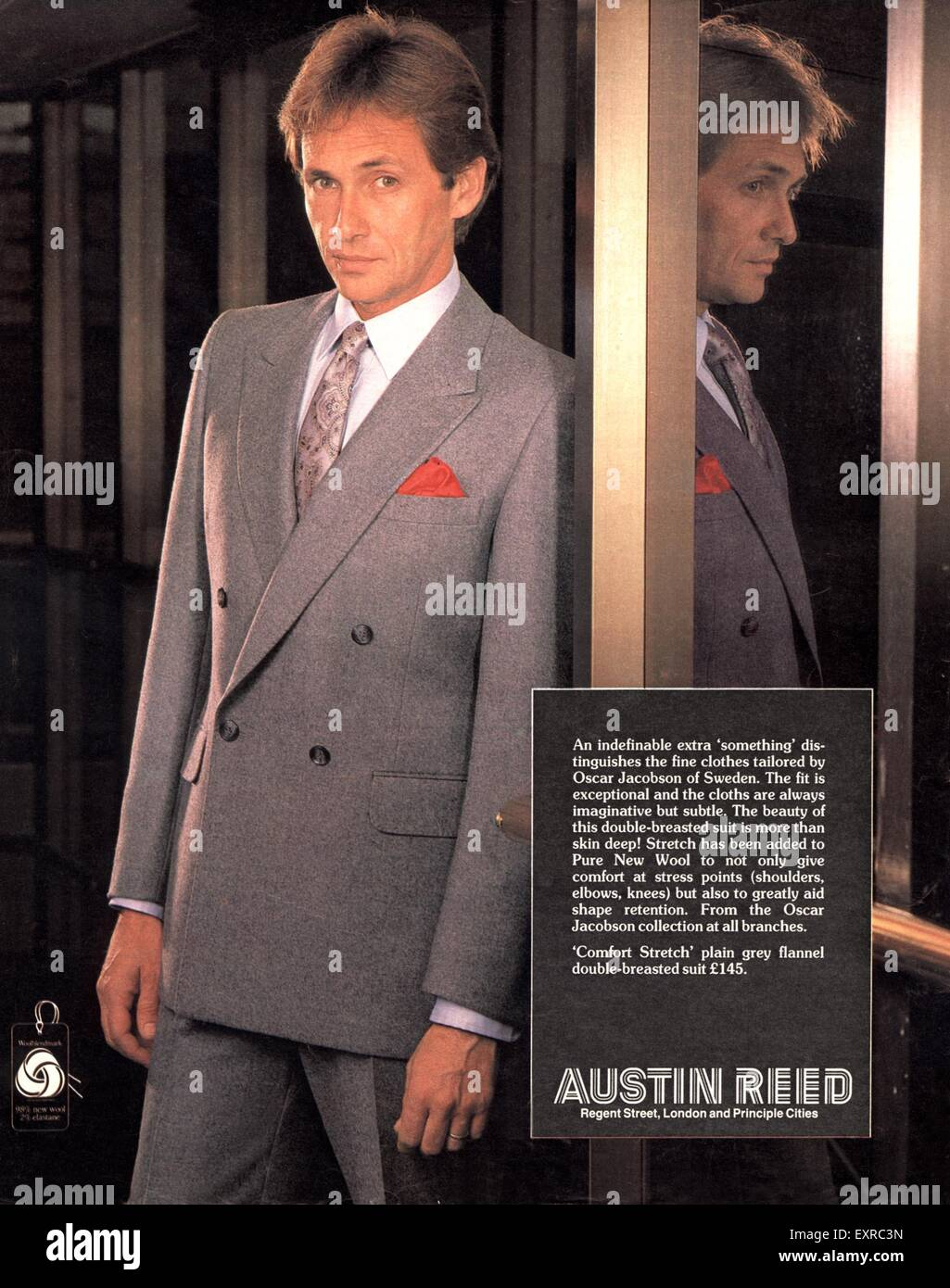 1980s Uk Austin Reed Magazine Advert Stock Photo Alamy
