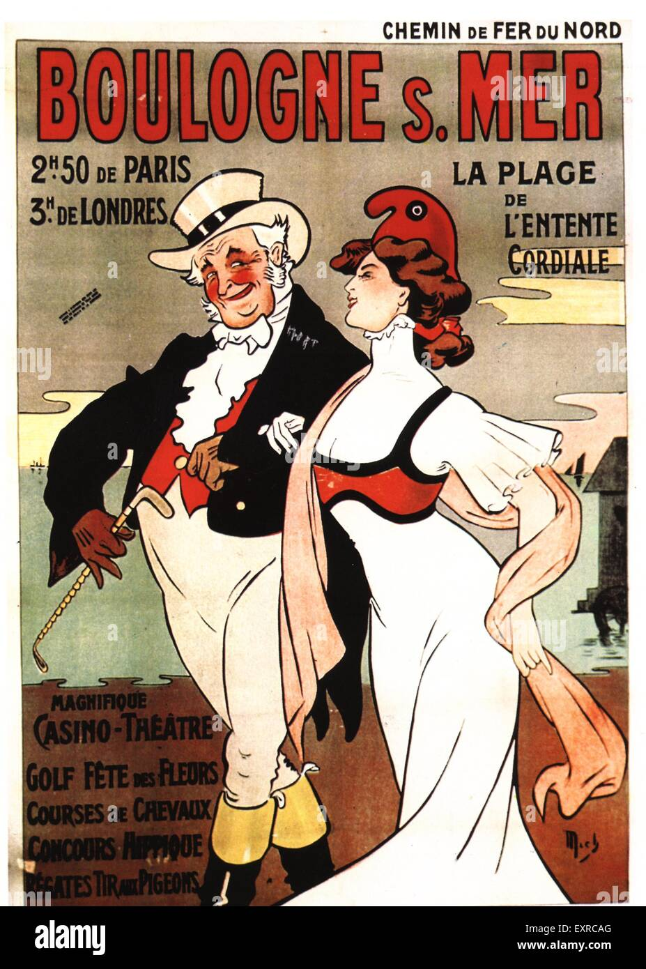 1900s France John Bull Poster - Stock Image