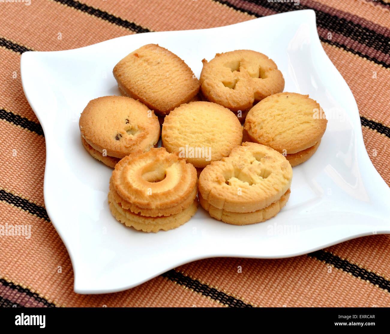 Denish Butter Cookies Stock Photo
