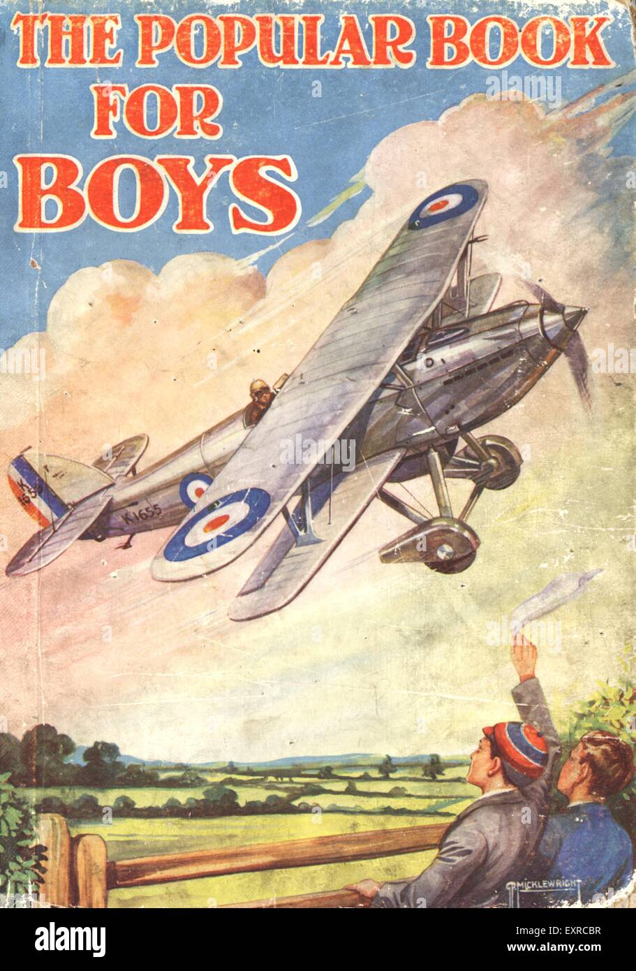 1920s Uk The Popular Book For Boys Comic Annual Cover Stock Photo