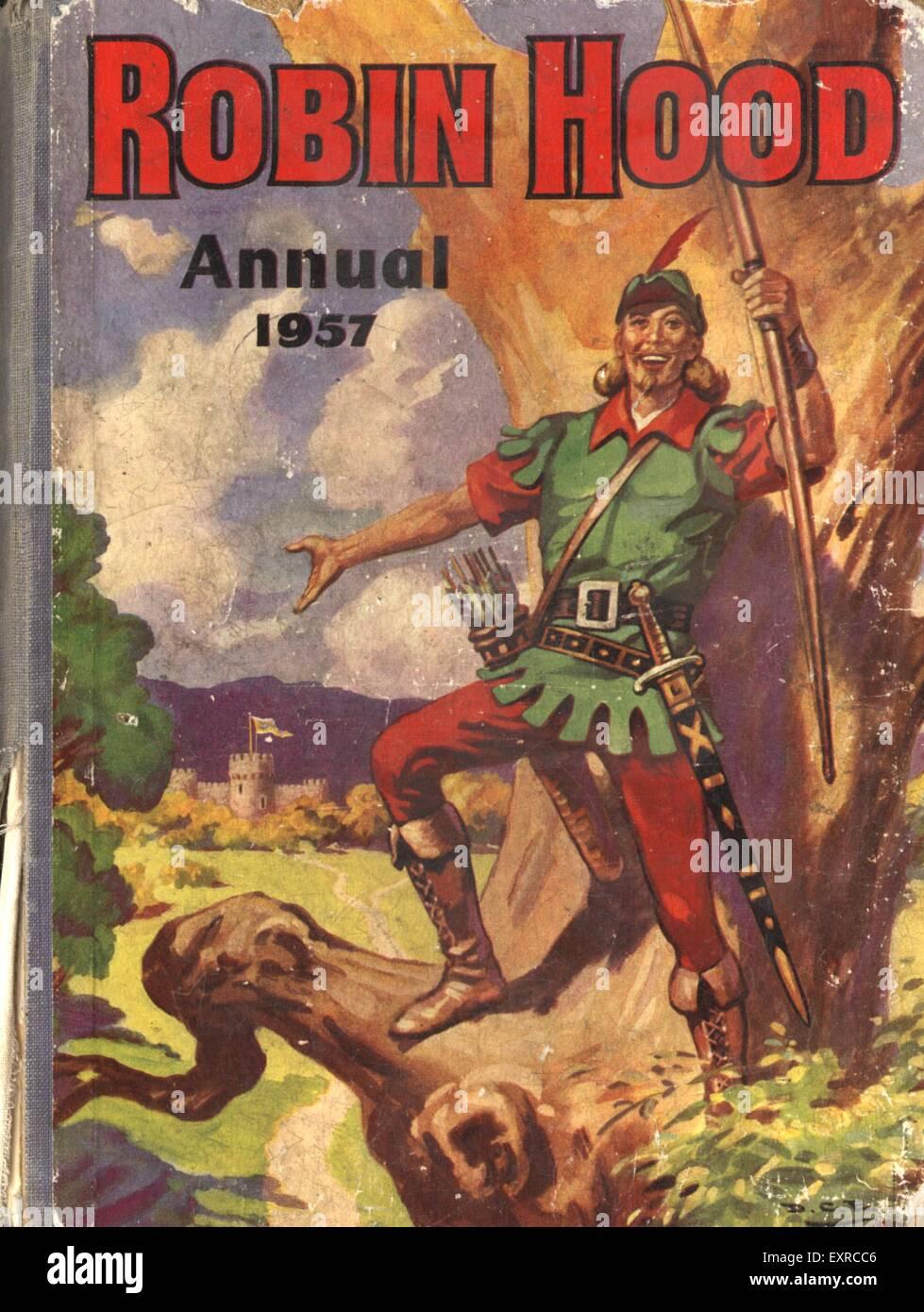 1950s UK Robin Hood Comic/ Annual Cover - Stock Image