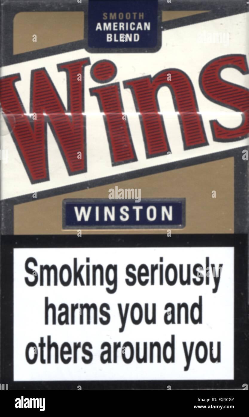 2000s UK Winston Packaging - Stock Image