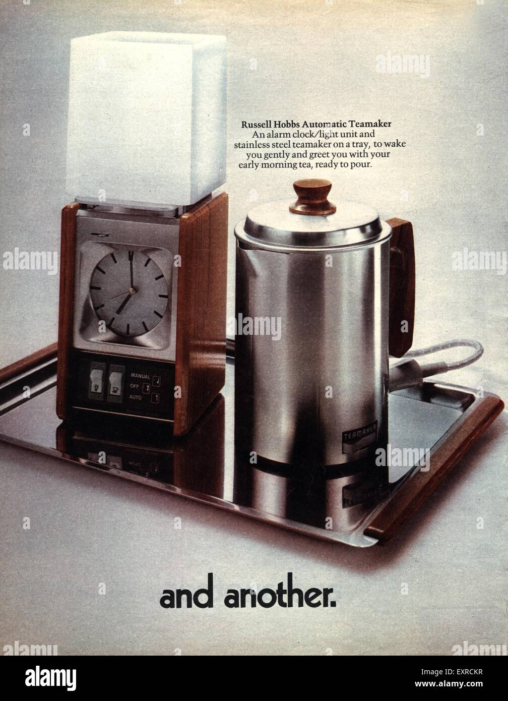 1970s UK Russell Hobbs Automatic Tea Makers Magazine Advert (detail) - Stock Image