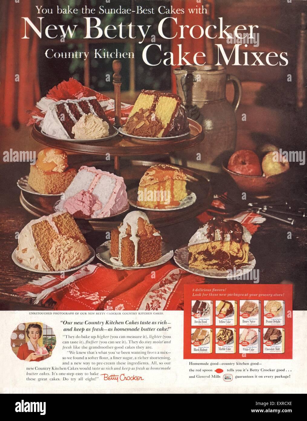1960s USA Betty Crocker Magazine Advert - Stock Image