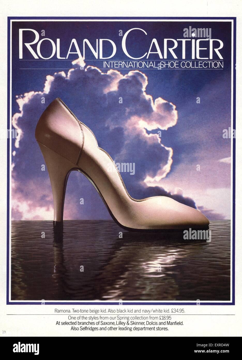 1980s UK Roland Cartier Magazine Advert - Stock Image