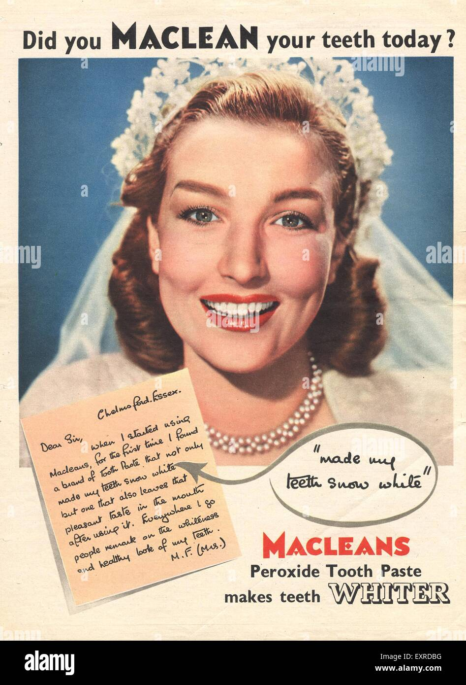 Image result for 1950s british toothpaste