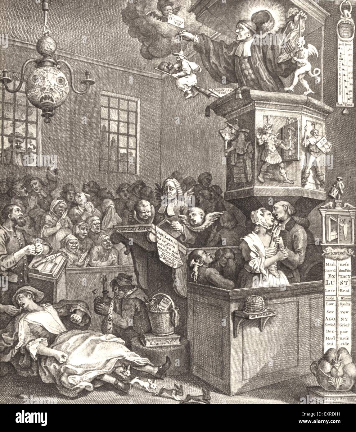 1840s & Pre UK Hogarth Courts Book Plate - Stock Image