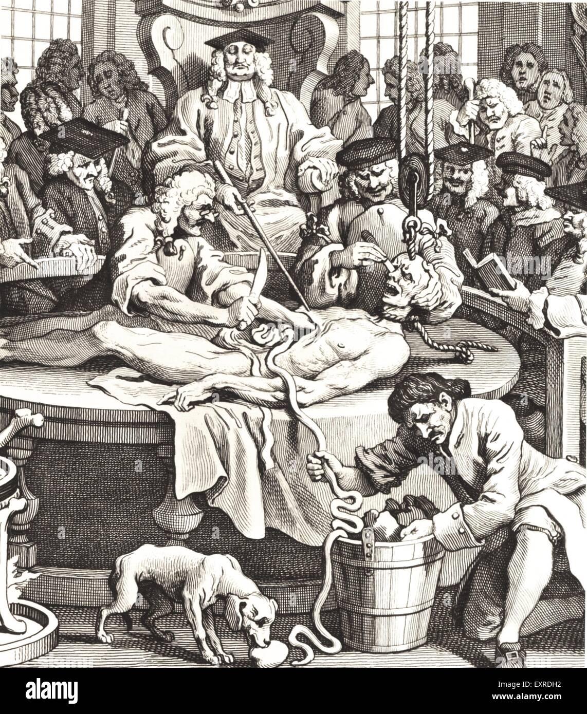 1840s & Pre UK Hogarth Operating Book Plate Stock Photo