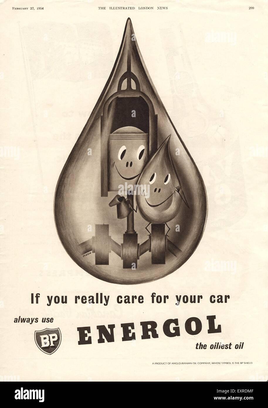 1950s Uk British Petroleum Magazine Advert Stock Photo 85338191 Alamy