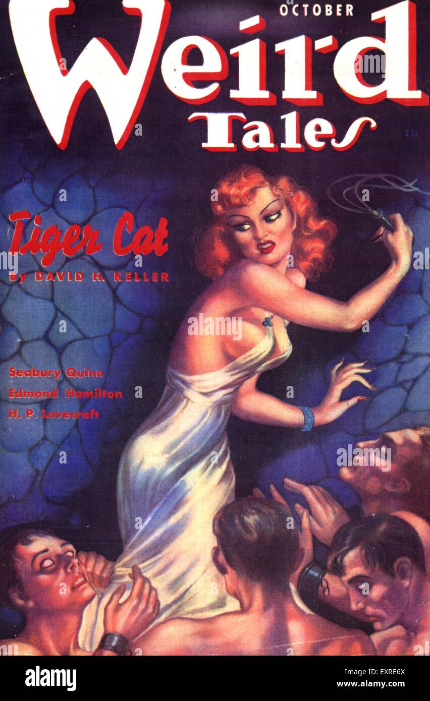 1930s USA Weird Tales Magazine Cover - Stock Image