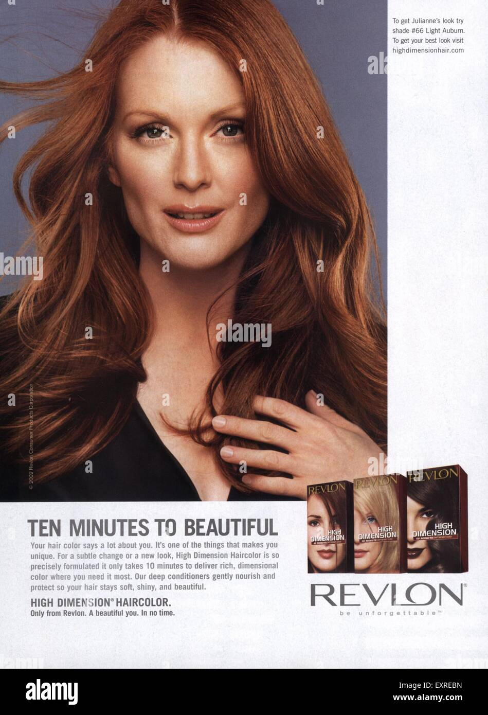 2000s USA Revlon Magazine Advert - Stock Image