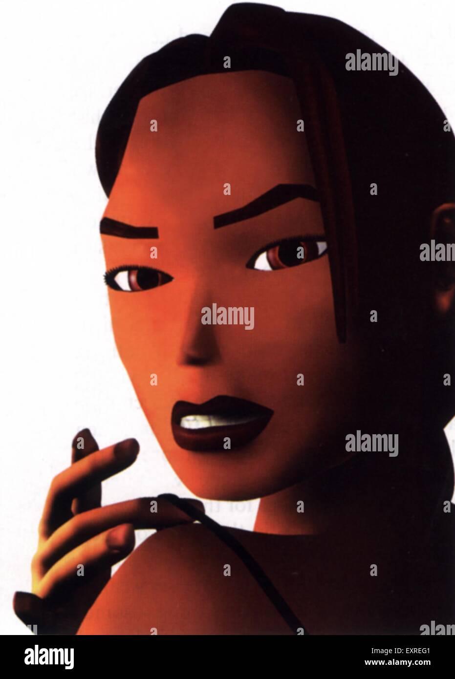 1990s UK Tomb Raider Magazine Advert - Stock Image