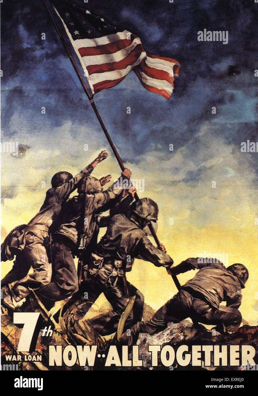 1940s USA Propaganda WW2 Poster Stock Photo