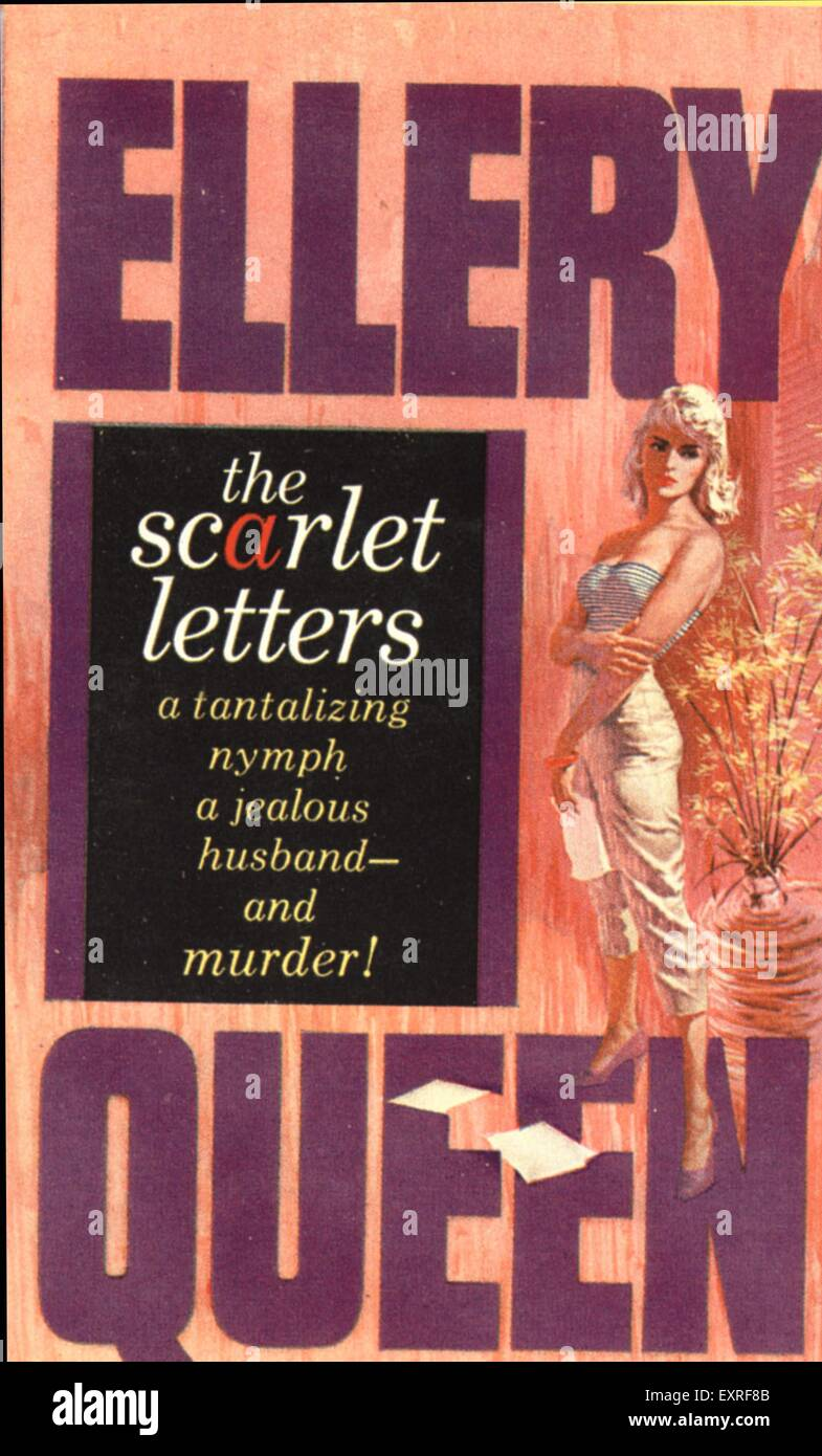 1950s USA The Scarlet Letters By Ellery Queen Book Cover