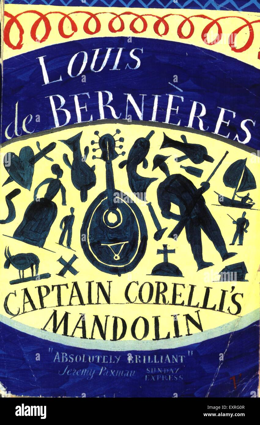 1990s UK Captain Corelli's Mandolin by Louis de Bernieres Book Cover