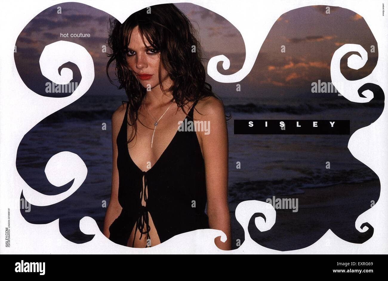 2000s UK Sisley Magazine Advert - Stock Image