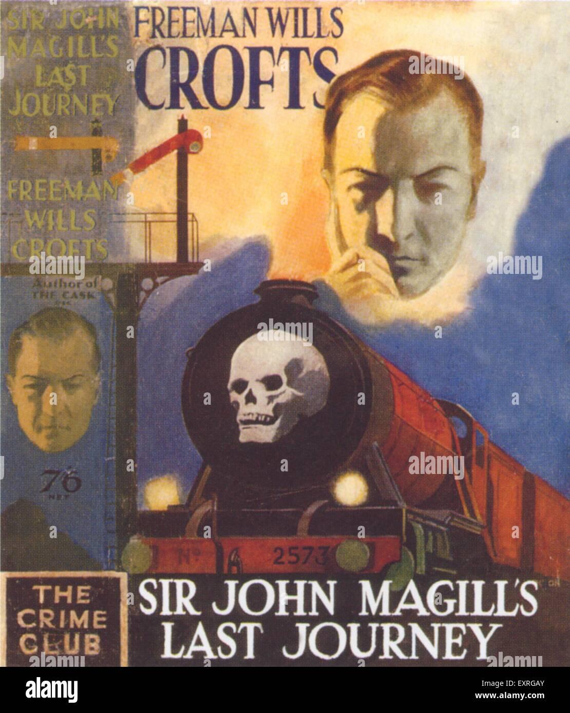 1930s UK Sir John Magills last Journey Book Cover - Stock Image
