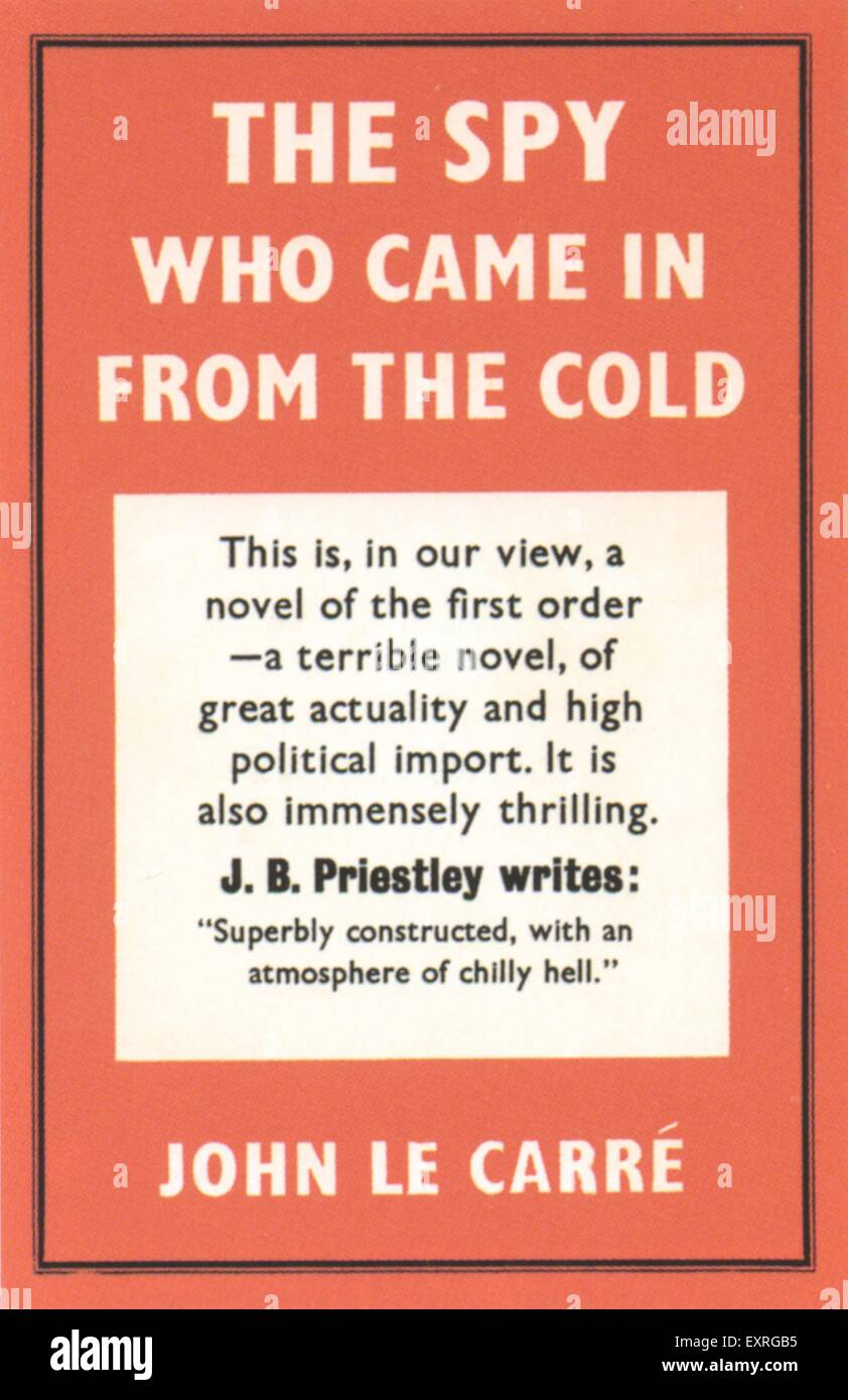 1960s UK The Spy Who Came In From The Cold Book Cover - Stock Image