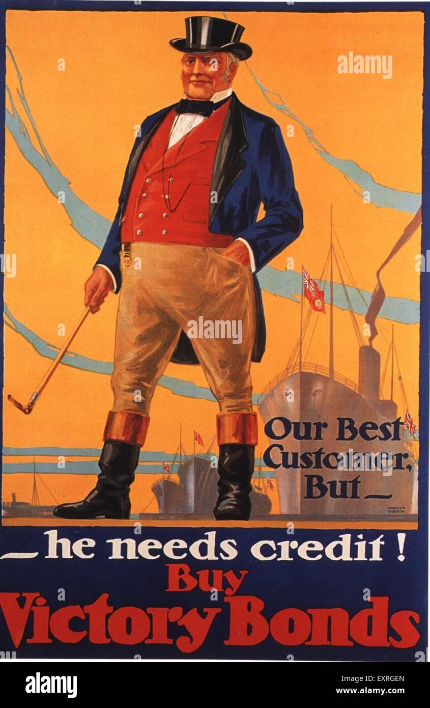 1910s USA John Bull Poster - Stock Image
