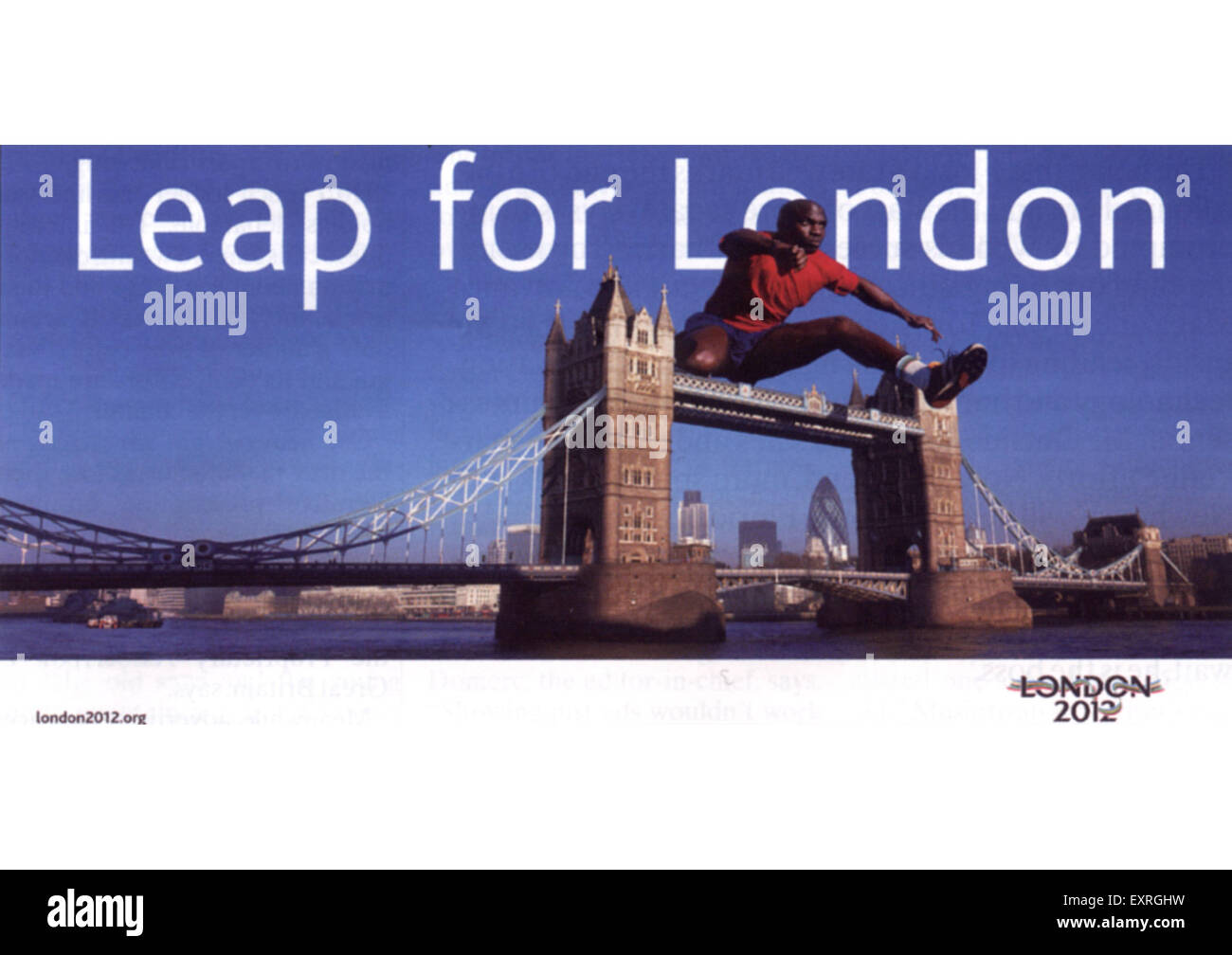 2000s UK Back the bid London 2012 Billboard Advert - Stock Image
