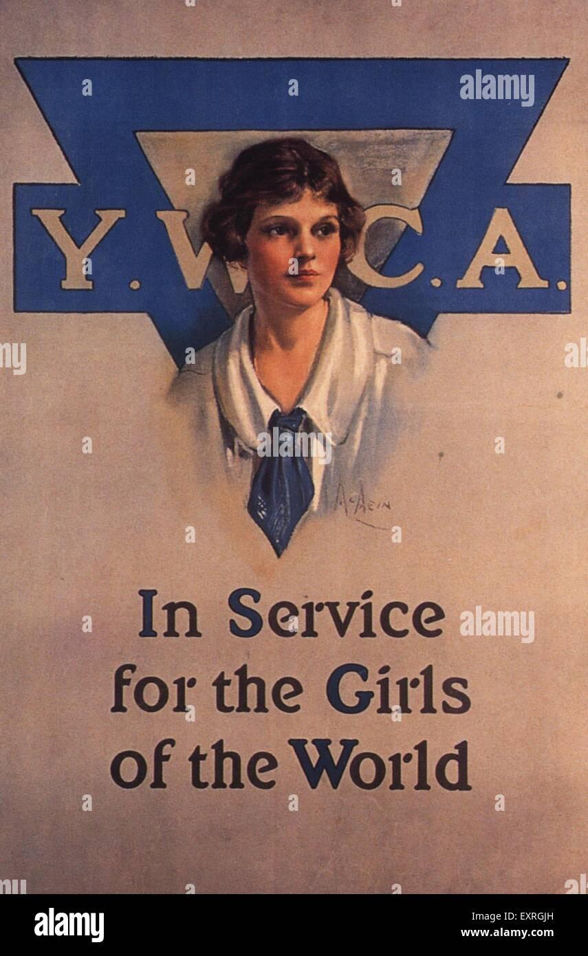 1910s USA YWCA Poster - Stock Image