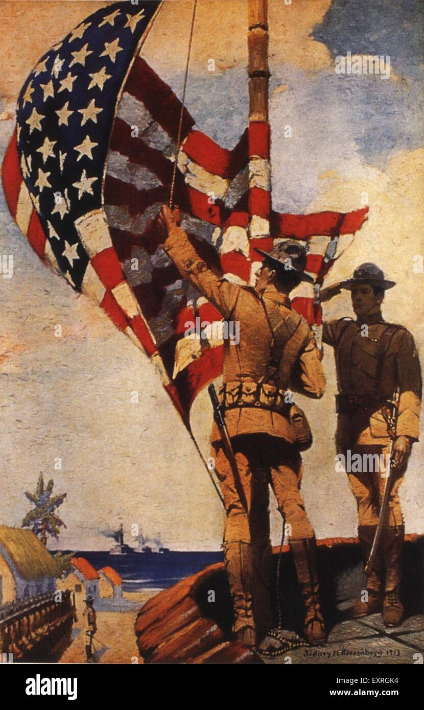 1910s USA Army Recruitment Poster - Stock Image