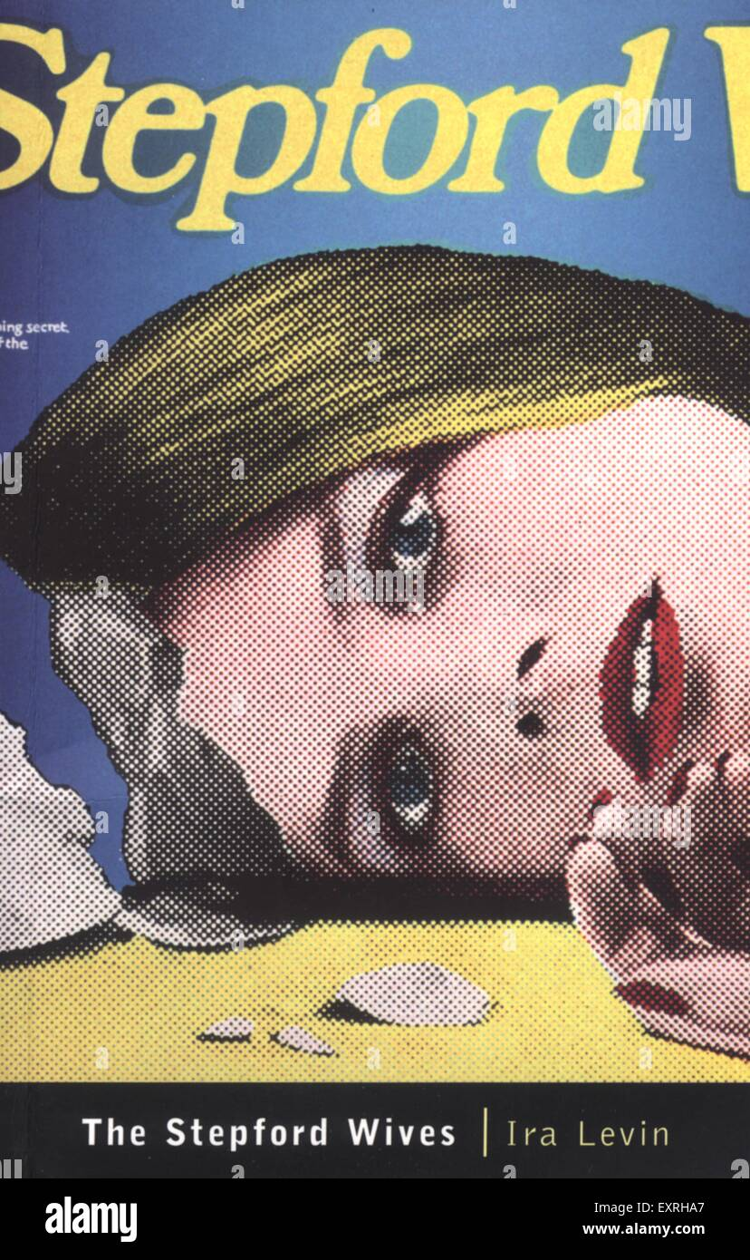 1990s UK The Stepford Wives by Ira Levin Book Cover - Stock Image