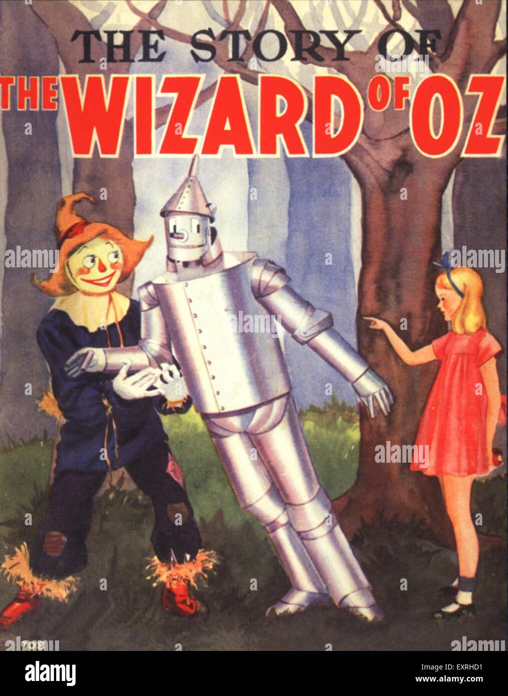 1930s USA The Wizard of Oz Book Cover - Stock Image