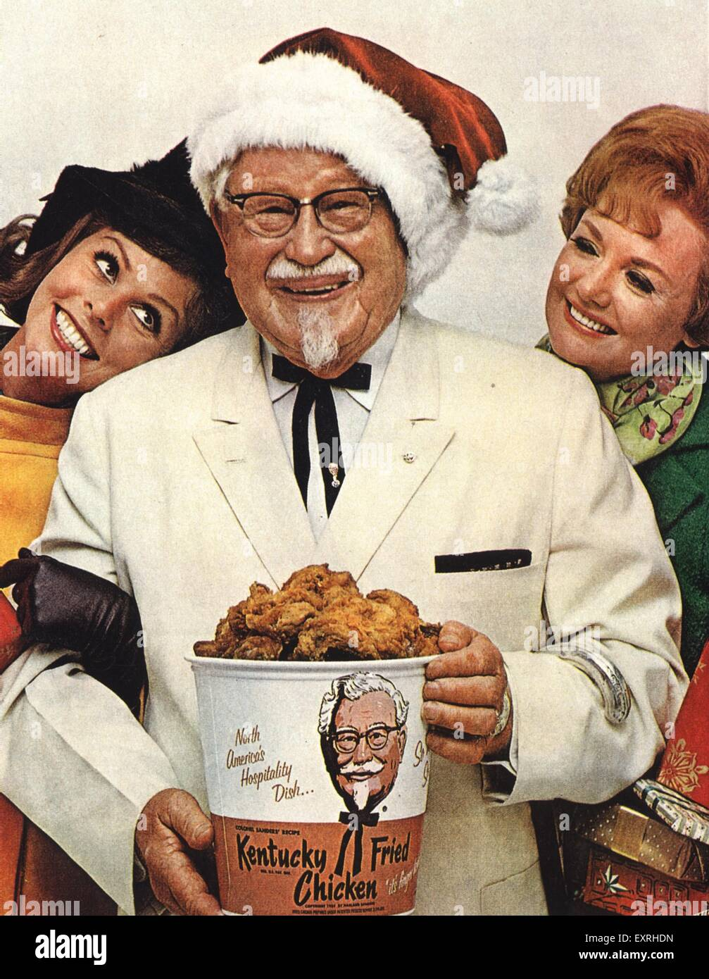 1960s USA KFC Christmas Magazine Advert Stock Photo: 85341137 - Alamy