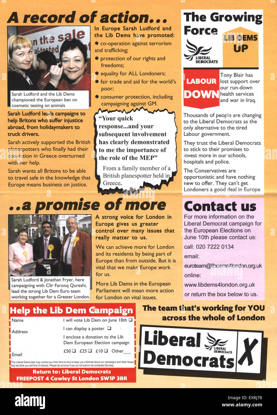 2000s UK The Liberal Democrats Poster - Stock Image