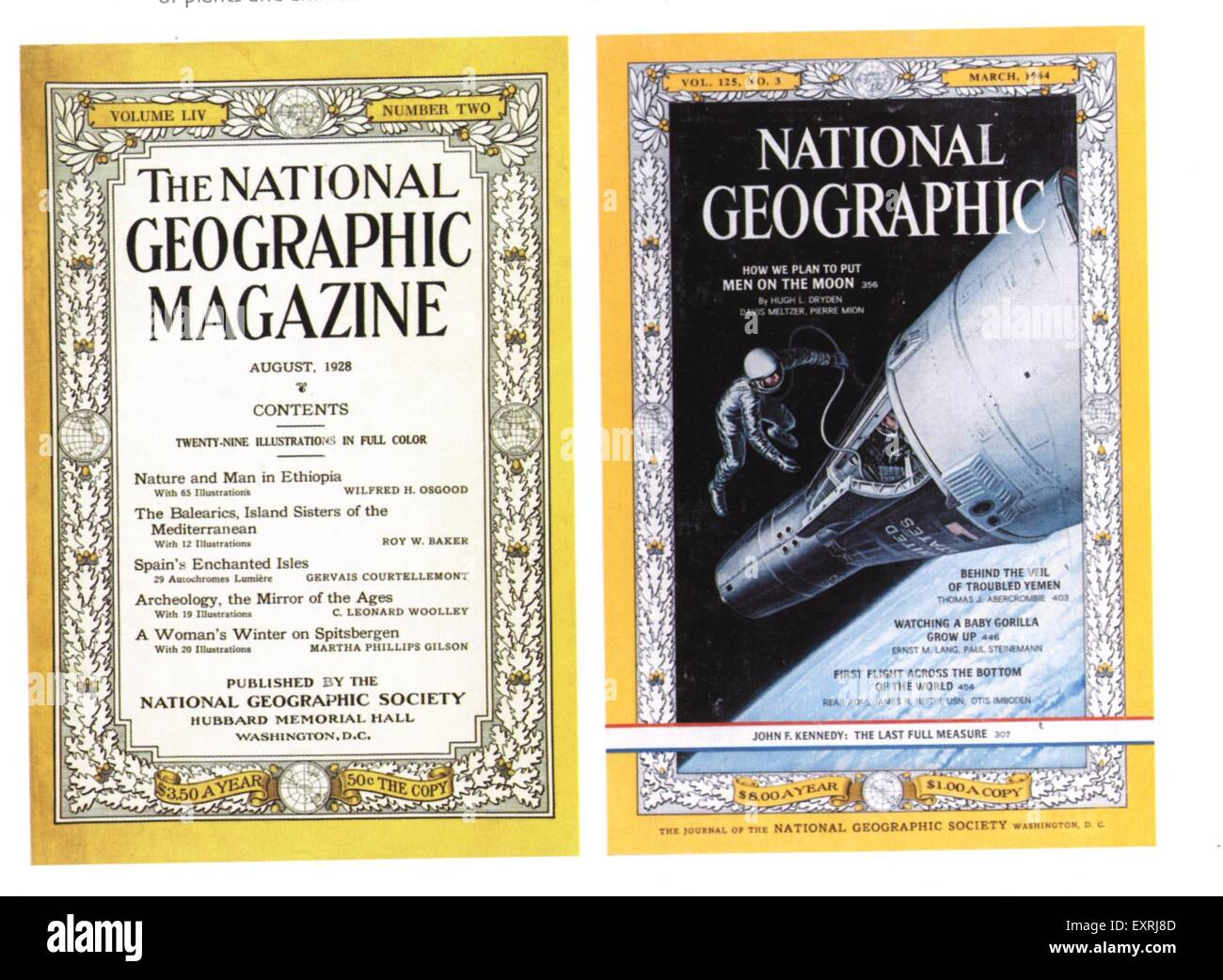 1960s USA National Geographic Magazine Cover - Stock Image