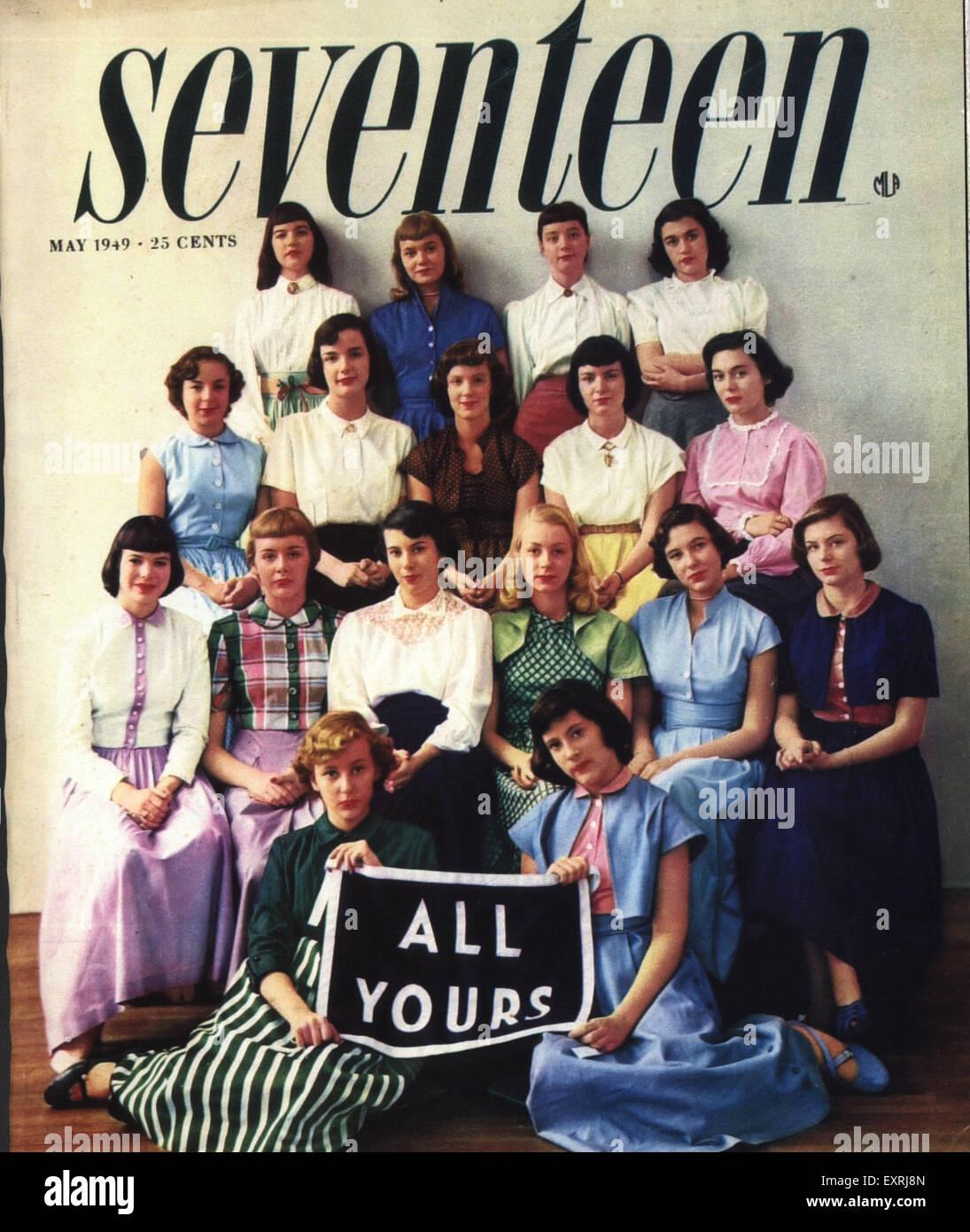 1940s USA Seventeen Magazine Cover - Stock Image