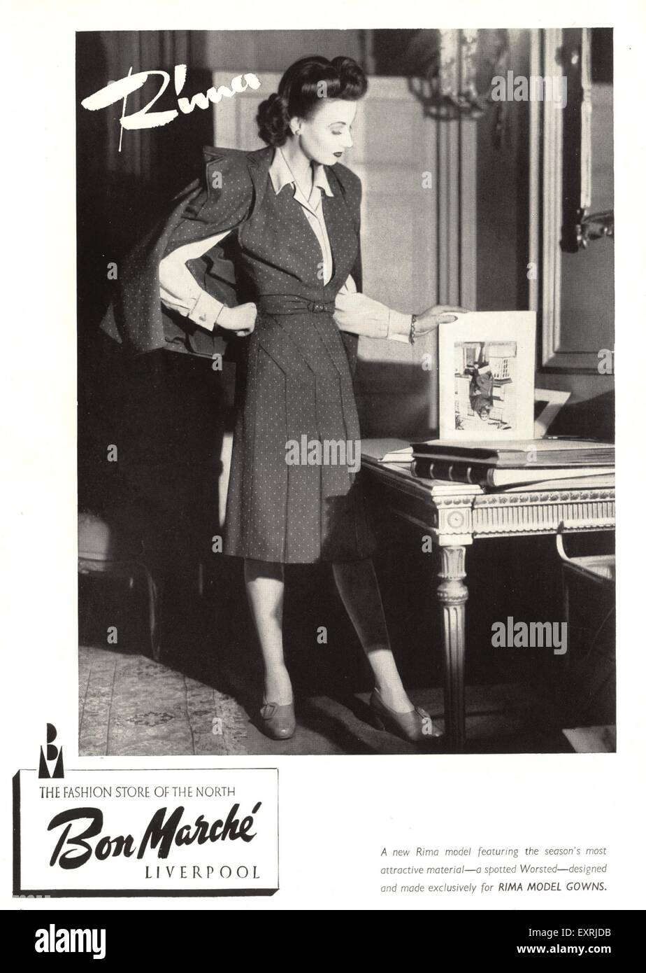 1940s UK Bon Marche Magazine Advert - Stock Image