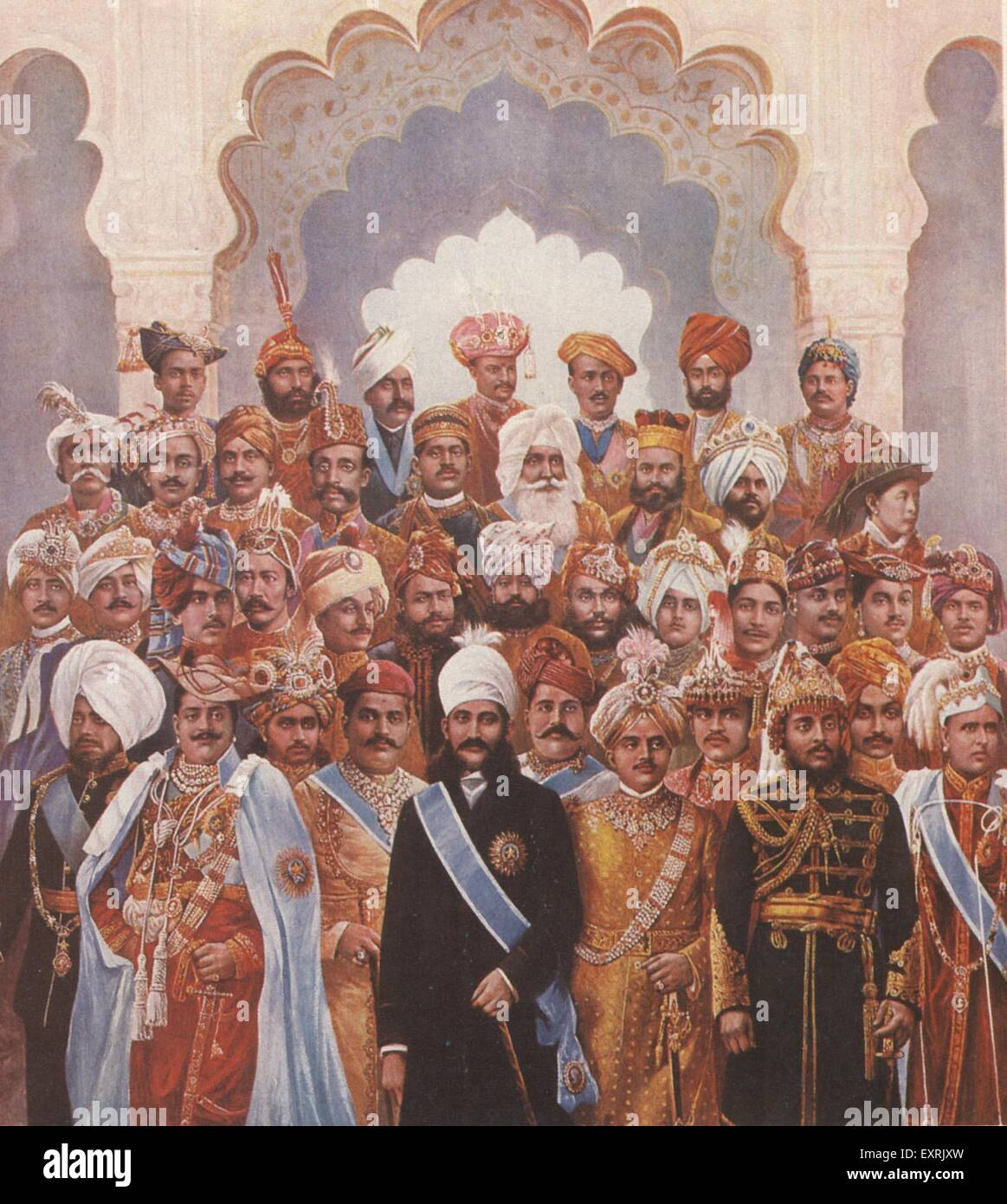1930s UK India The British Empire Last Days Raj Magazine Plate - Stock Image