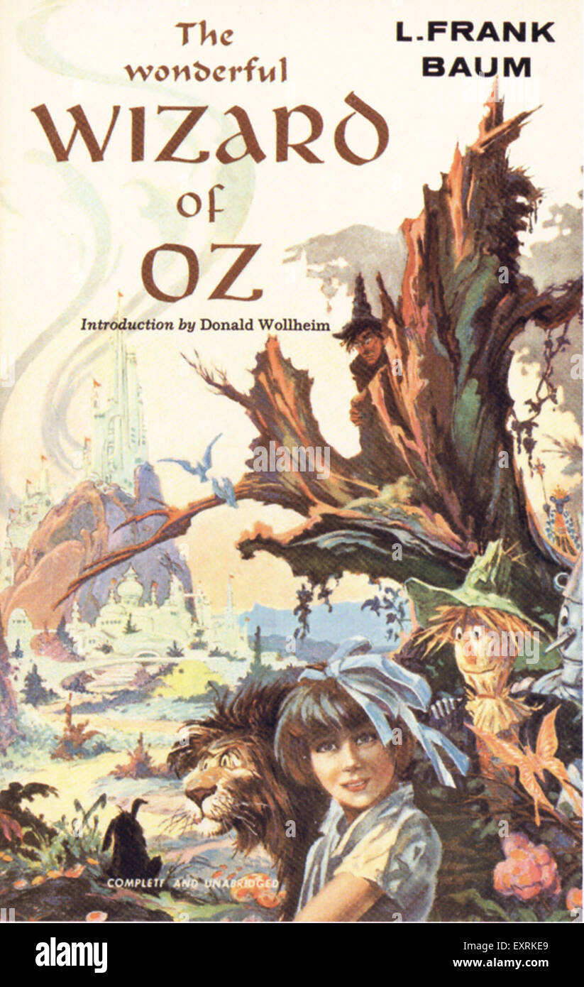1950s USA The Wizard Of Oz Book Cover - Stock Image