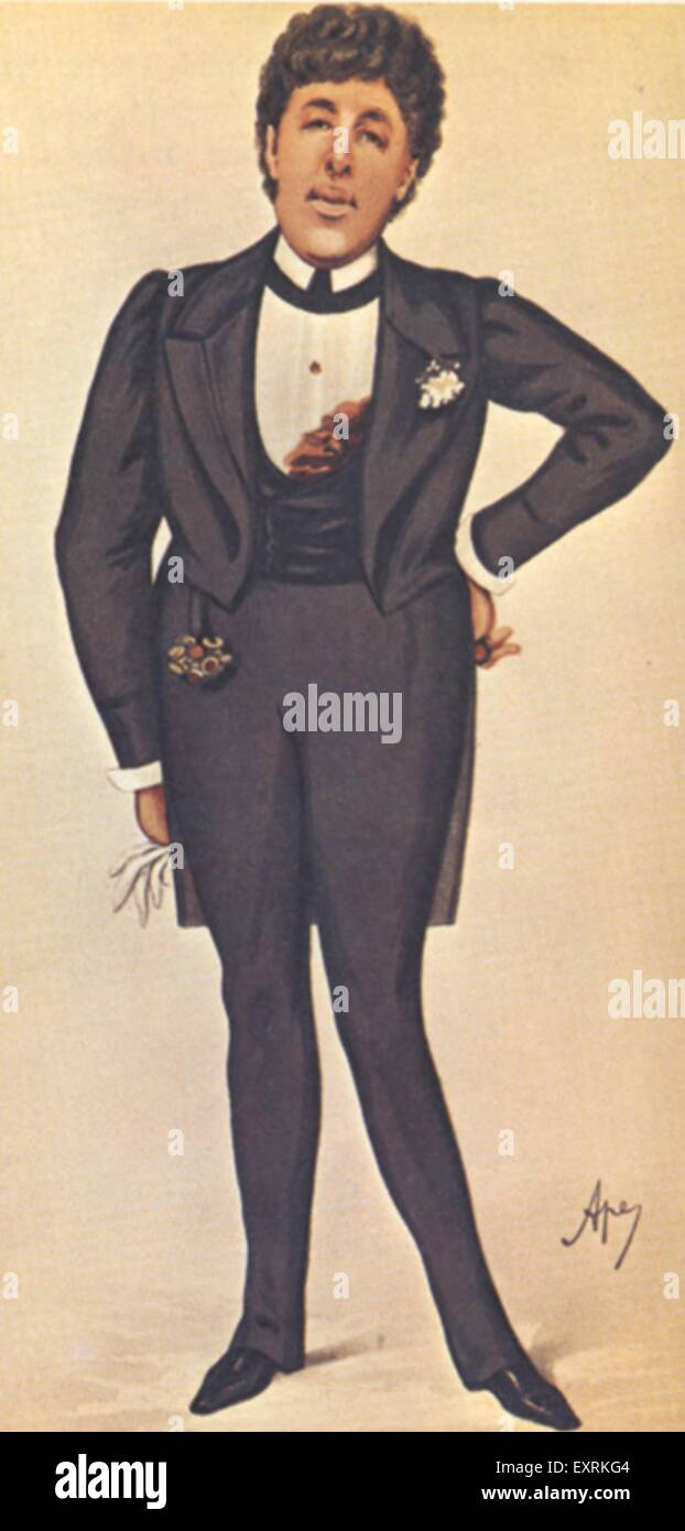 1900s UK Oscar Wilde, SPY Magazine Plate - Stock Image